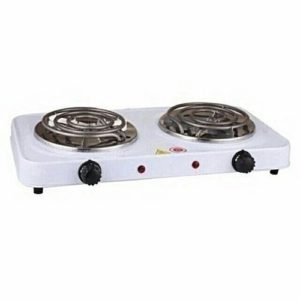 double electric spiral hotplate cooker