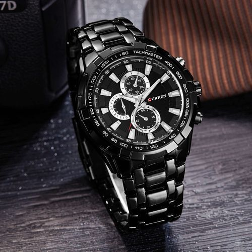 Curren mens watches luxury Chronograpy with waterproof