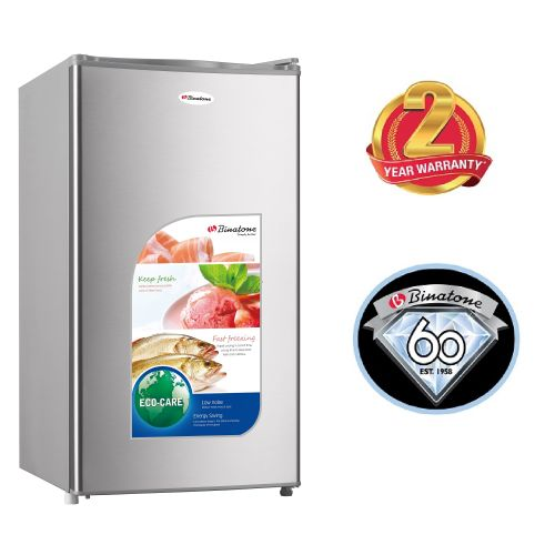 Binatone FR-110, Single Door Refrigerator, 90L - Silver