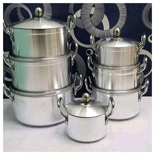 14 Pcs Heavy Stainless Steel Cooking Pots