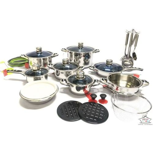30 PCS Marwa Heavy Duty Stainless Steel Cookware -Titanium Coated