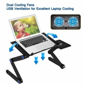 Generic adjustable laptop stand with cooler fan and mouse pad