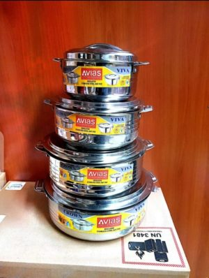 4 Pcs Stainless Steel Hotpots
