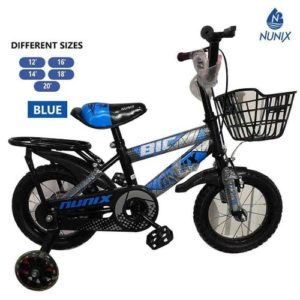 """Nunix Kids Bicycle - Size 16"""" - For Age 3-6 Years (Blue)"""